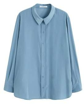 Violeta BY MANGO Satin finish flowy shirt