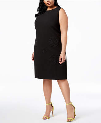 Betsey Johnson Plus Size Embroidered Sheath Dress
