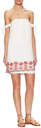 Winston White Women's Parisian Embroidered Eyelet Shift Dress