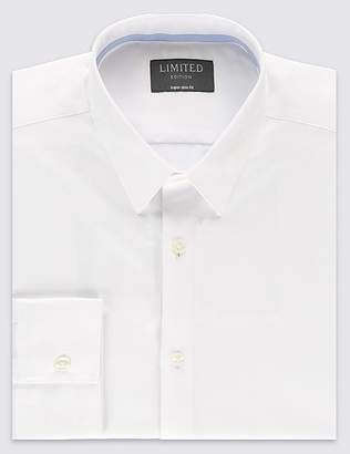 Marks and Spencer Cotton Rich Skinny Fit Shirt