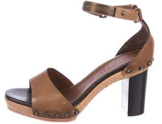 Derek Lam Leather Ankle-Strap Sandals