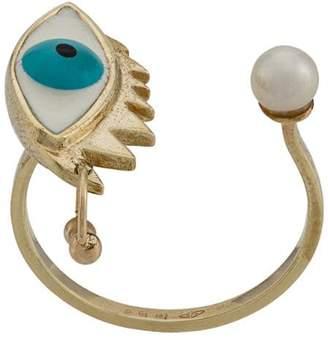 Delfina Delettrez 9kt yellow gold Eye Piercing ring