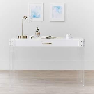 Pottery Barn Teen Jane Acrylic Desk, Water-Based Simply White