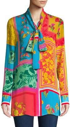 Escada Printed Flowy Blouse