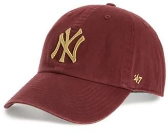 '47 Clean Up New York Yankees Metallic Baseball Cap