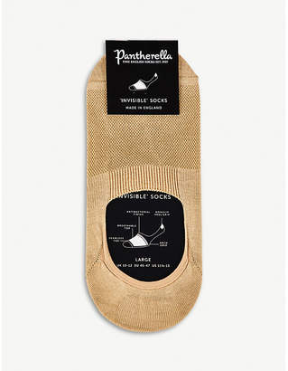 Pantherella Breathable cotton-blend footlet socks