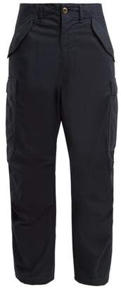Myar - Cotton Blend Cargo Trousers - Womens - Navy