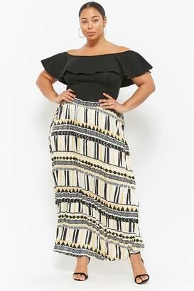 Forever 21 Plus Size Satin Maxi Skirt