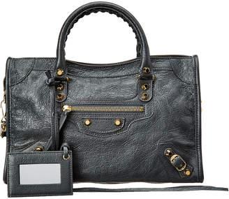 Balenciaga Classic Gold City Small Leather Shoulder Bag