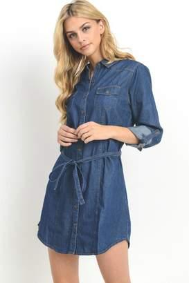 Black Label Denim Shirt Dress