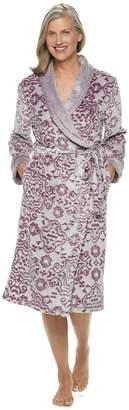 Croft & Barrow Women's Paisley Plush Wrap Robe