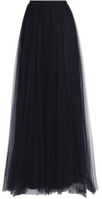DELPOZO Pleated Tulle Maxi Skirt