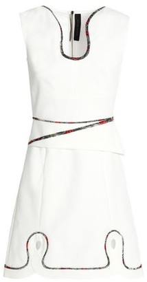 Roland Mouret Conrad Cutout Embroidered Crepe Mini Dress