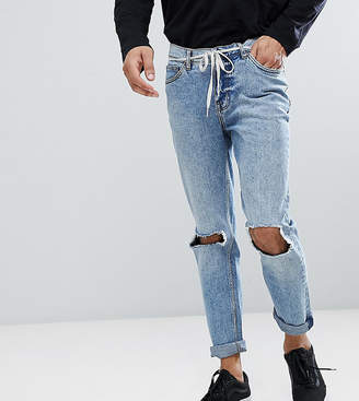 Cheap Monday Sonic Slim Jeans with Blown Out Knee