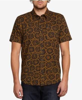 Volcom Men's Turntail Tile-Print Shirt