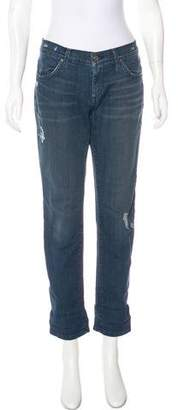 James Jeans Mid-Rise Straight-Leg Jeans