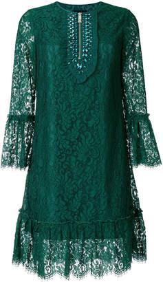 John Richmond jewelled scalloped dress