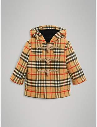 Burberry Childrens Vintage Check Wool Duffle Coat