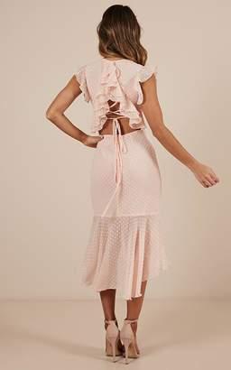 Showpo Tighten the strings Dress in blush