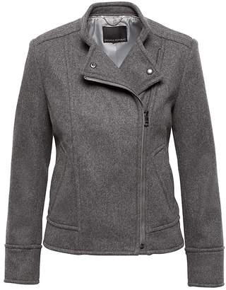 Banana Republic Italian Melton Wool Blend Moto Jacket