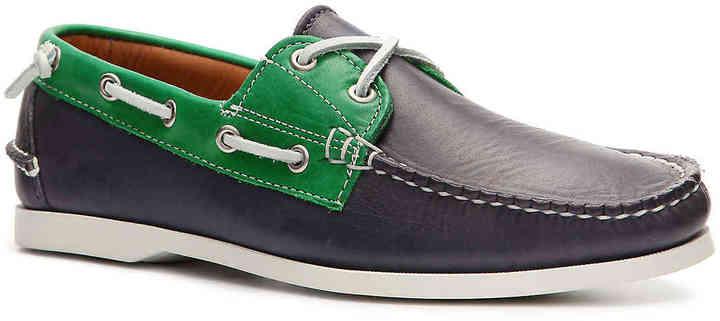 Ralph Lauren Collection Men's Telford II Leather Color Block Boat Shoe