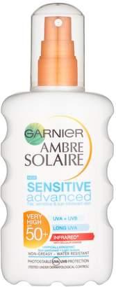 Ambre Solaire Garnier Sensitive Advanced Spray SPF50+ 200ml