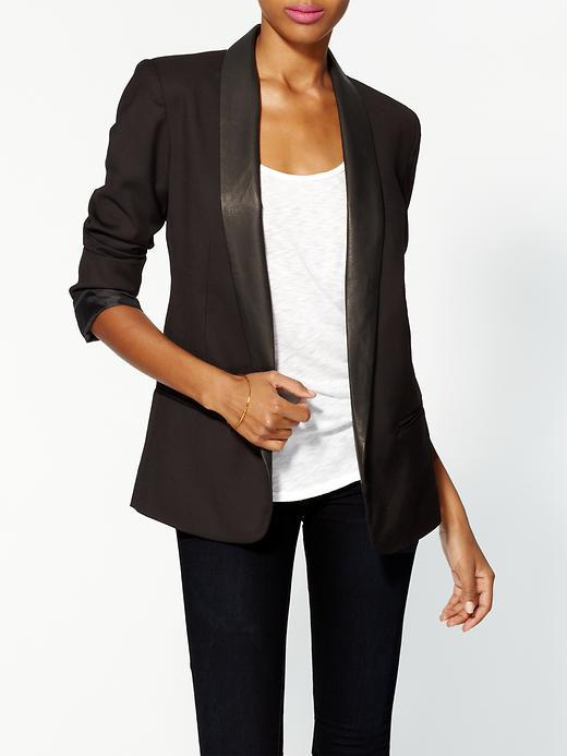 BB Dakota Leather Lapel Blazer
