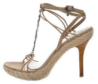 Christian Dior Embellished Suede Sandals