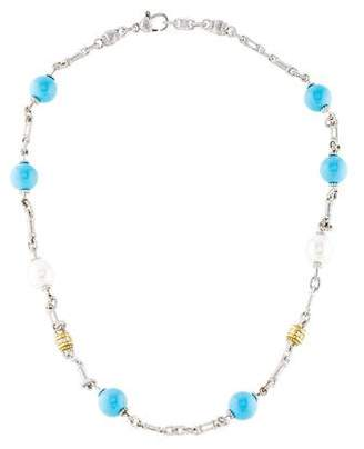 Judith Ripka Pearl & Multistone Bead Necklace