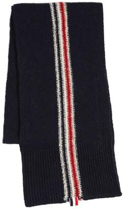 Thom Browne Stripe Intarsia Wool & Mohair Knit Scarf