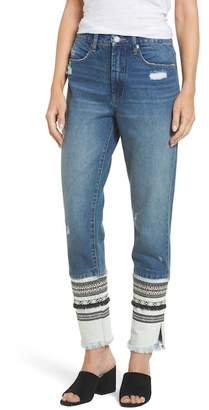 Blank NYC BLANKNYC Denim Embellished Straight Leg Jeans
