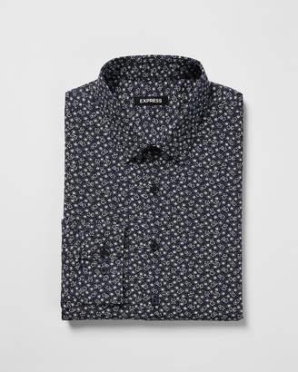 Express Classic Floral Dress Shirt