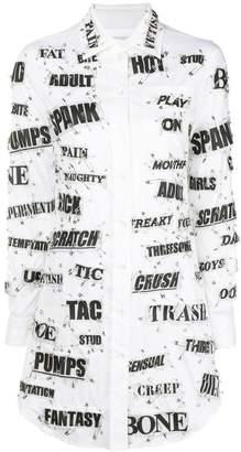 Moschino slogan safety pin shirt