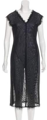 Alberta Ferretti Sleeveless Midi Dress Black Sleeveless Midi Dress
