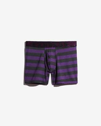 Express Purple Rugby Stripe Boxer Briefs