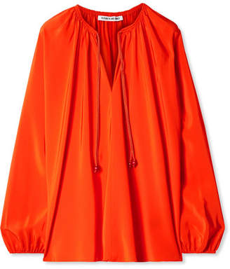 Elizabeth and James Chance Silk Blouse - Bright orange