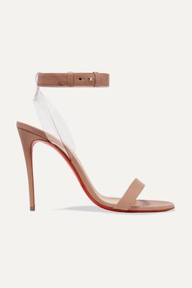 Christian Louboutin Jonatina 100 Pvc-trimmed Leather Sandals - Beige