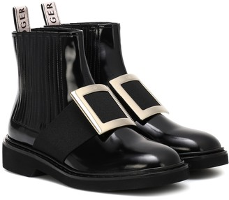 Roger Vivier Chelsea Viv' leather ankle boots