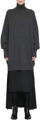 Maison Margiela Charcoal Elbow Patches Wool Turtleneck Sweater