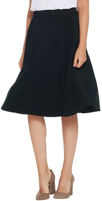 Denim & Co. Faux Suede Pull-On Seamed Skirt