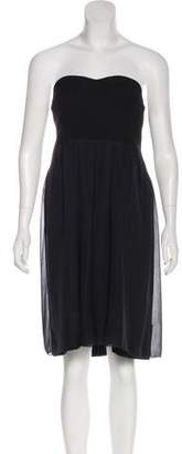 Chloé Pleated Strapless Dress