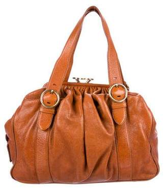 Marc Jacobs Pleated Leather Shoulder Bag