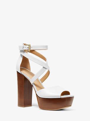 Michael Kors Burke Leather Platform Sandal