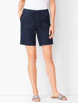 Talbots Drawstring Washed-Linen Shorts - Solid