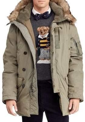 Polo Ralph Lauren Military Faux Fur-Trim Parka