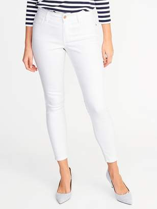 Old Navy Mid-Rise Super Skinny White Ankle Jeans for Women