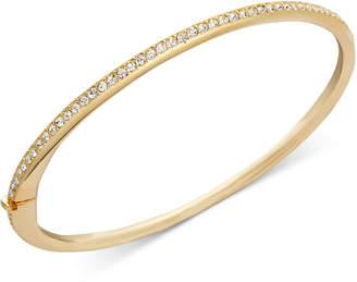 Danori Bracelet, Gold-Tone Thin Crystal Bangle