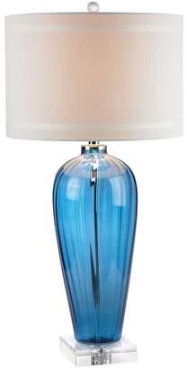 Dimond Blue Glass Table Lamp