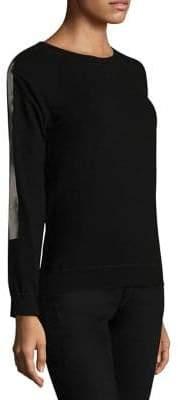Monrow Vintage Raglan Foil Stripe Sweatshirt
