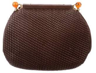 Judith Leiber Textured Leather Clutch